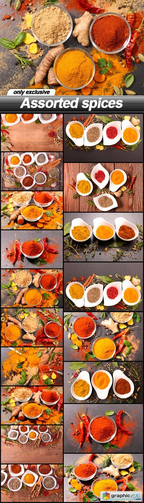 Assorted spices - 18 UHQ JPEG
