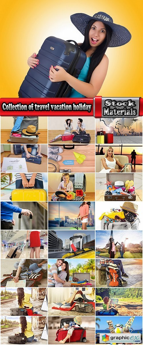 Collection of travel vacation holiday suitcase for a plane ticket tourism tourist 25 HQ Jpeg