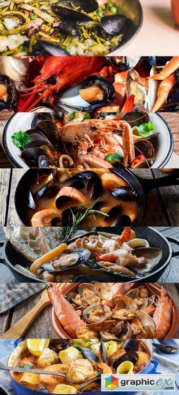 Seafood Stew - 7 x JPEGs