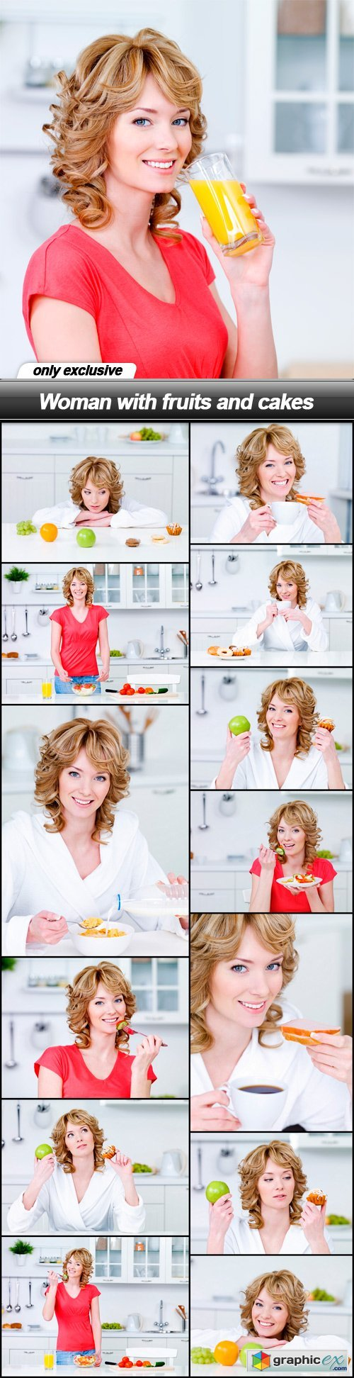 Woman with fruits and cakes - 14 UHQ JPEG