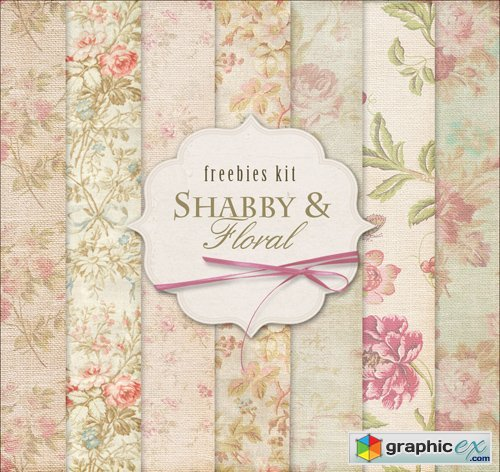 Floral Background Textures - Shabby & Floral