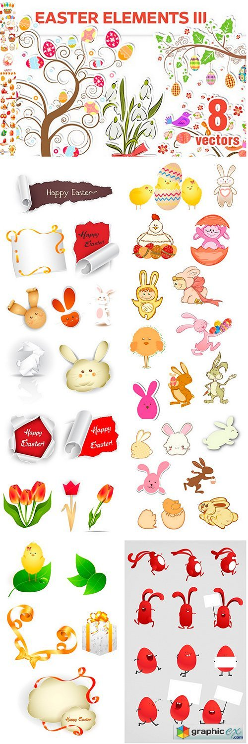 Easter elements - 6EPS
