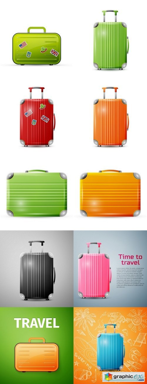 Large polycarbonate suitcase