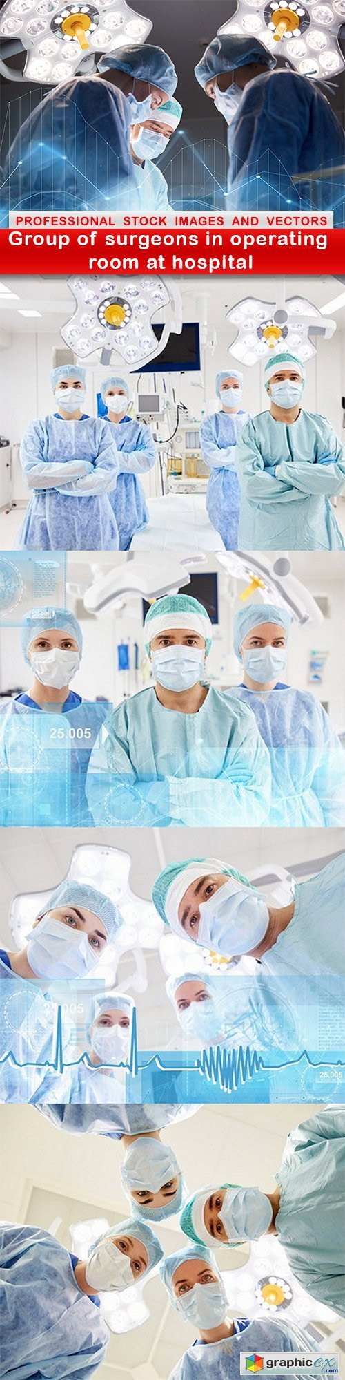 Group of surgeons in operating room at hospital - 5 UHQ JPEG