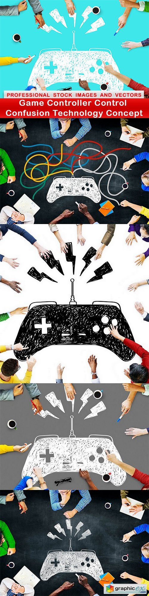 Game Controller Control Confusion Technology Concept - 5 UHQ JPEG