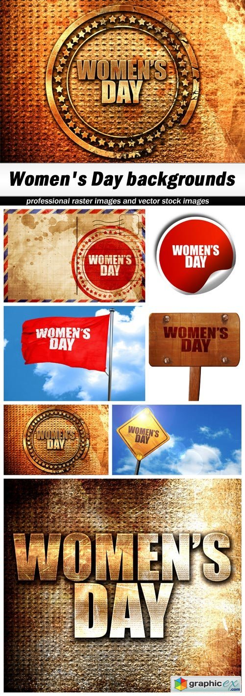 Women's Day backgrounds - 7 UHQ JPEG