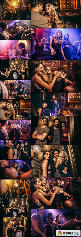 Group of friends enjoying drinks at bar 20X JPEG