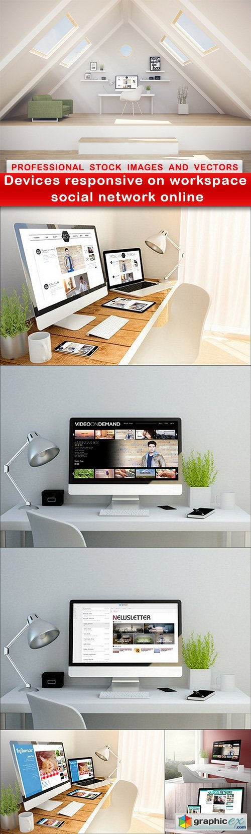 Devices responsive on workspace social network online - 7 UHQ JPEG
