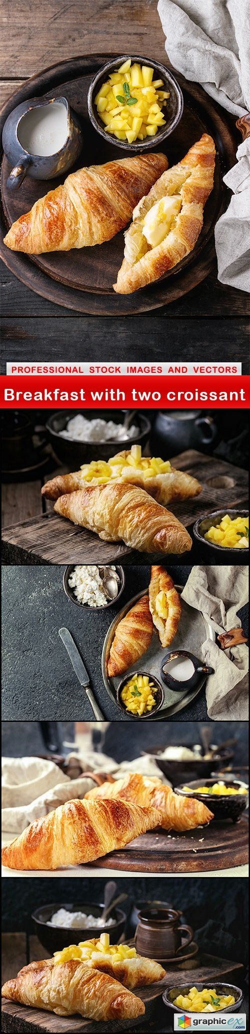 Breakfast with two croissant - 5 UHQ JPEG