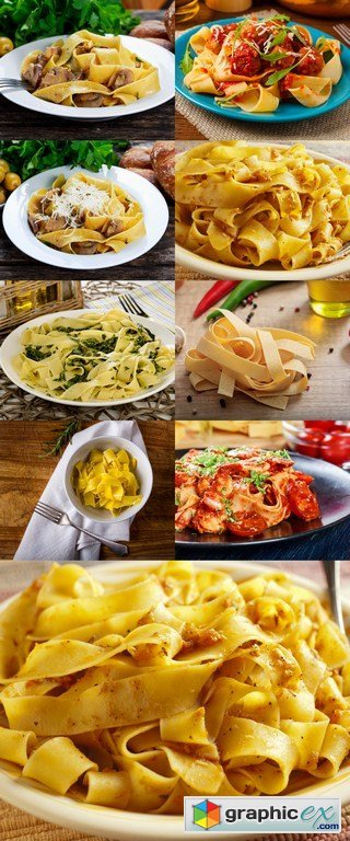 Pasta Pappardelle - 9 x JPEGs