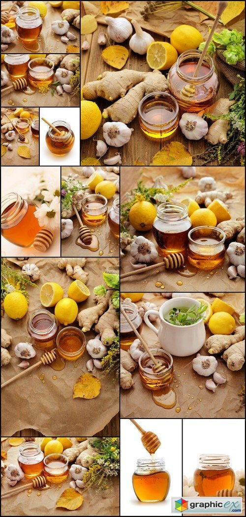 Honey, ginger, garlic, lemon 13X JPEG