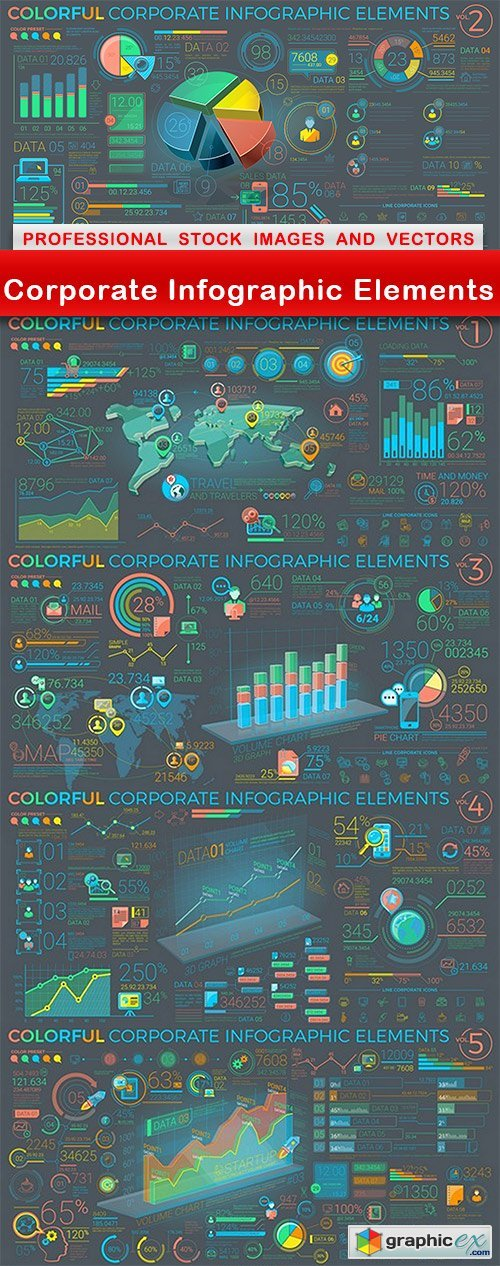 Corporate Infographic Elements - 5 EPS