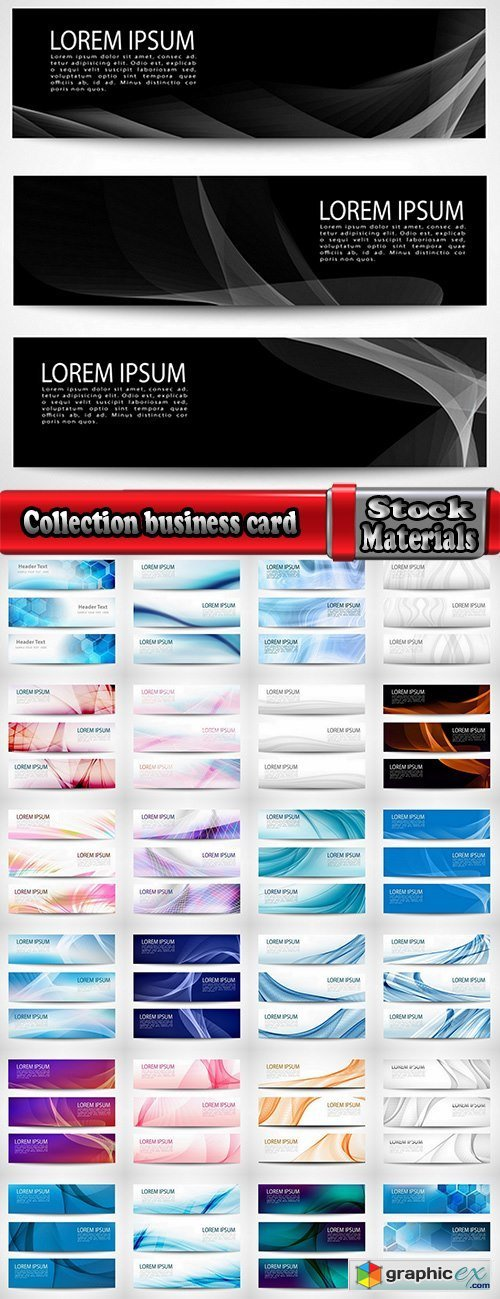 Collection business card flyer banner vector image 15-25 EPS