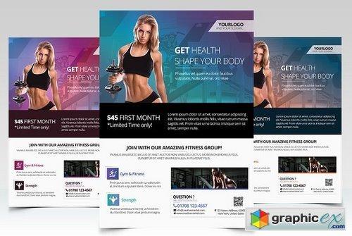 Gym & Health - PSD Flyer Template