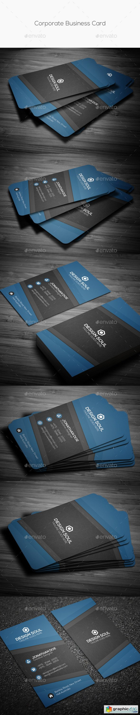Corporate Business Card 10853425