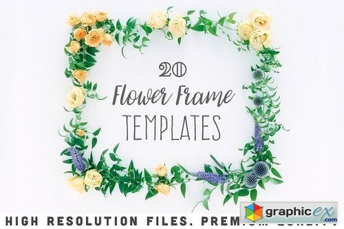 20 Flower Frame Templates