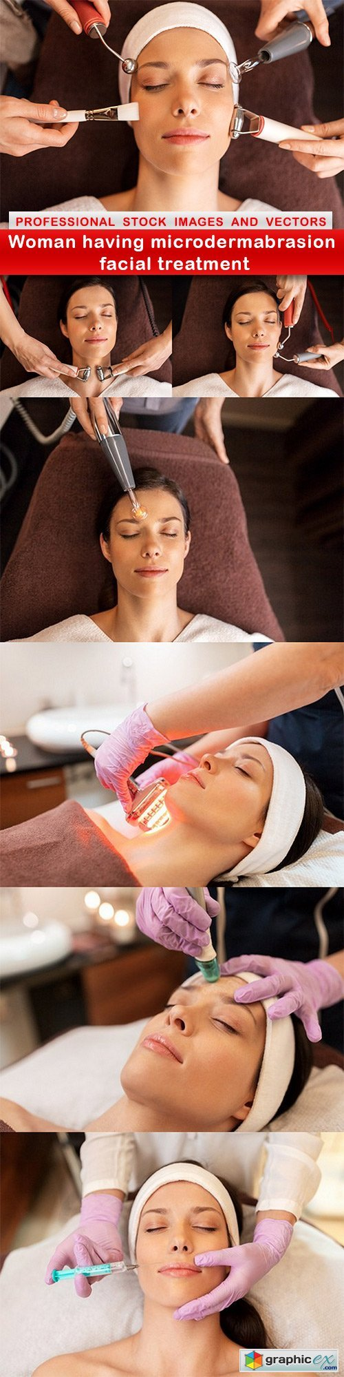 Woman having microdermabrasion facial treatment - 7 UHQ JPEG