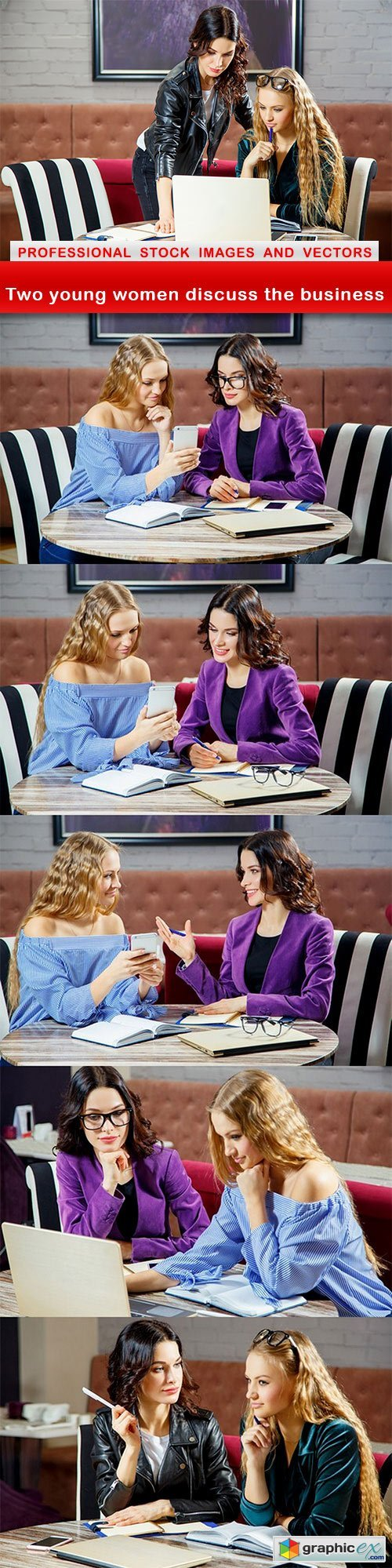 Two young women discuss the business - 6 UHQ JPEG