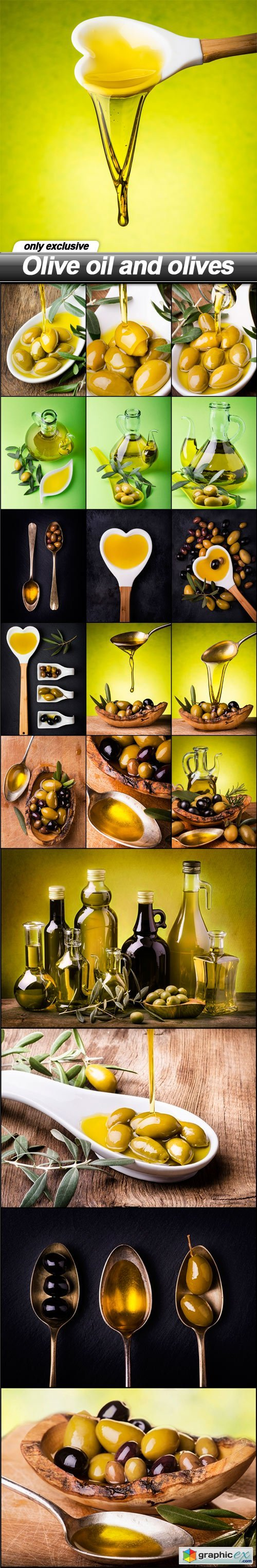 Olive oil and olives - 20 UHQ JPEG