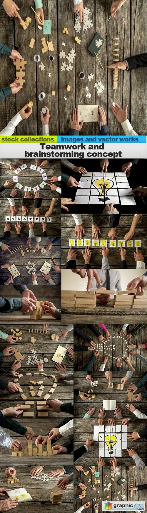 Teamwork and brainstorming concept, 15 x UHQ JPEG