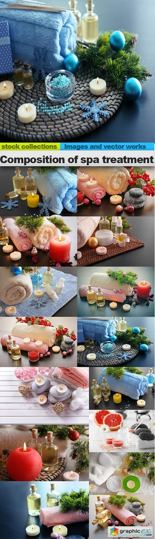 Composition of spa treatment, 15 x UHQ JPEG