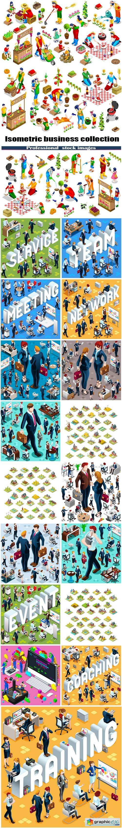 Isometric business collection