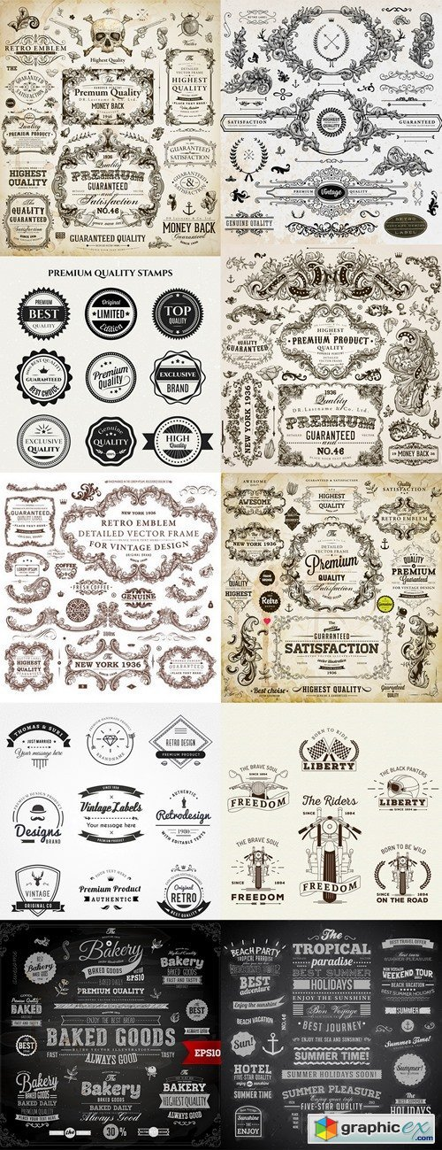 Vintage page victorian classic vignette » Free Download Vector Stock