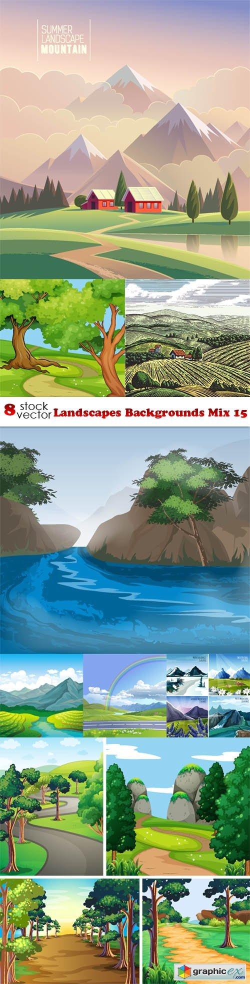Landscapes Backgrounds Mix 15