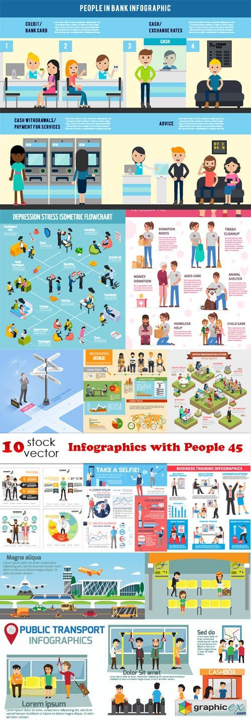 Infographics with People 45