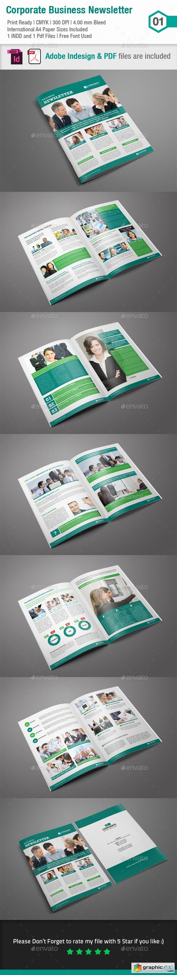 Business Newsletter Template_Indesign Layout_V1