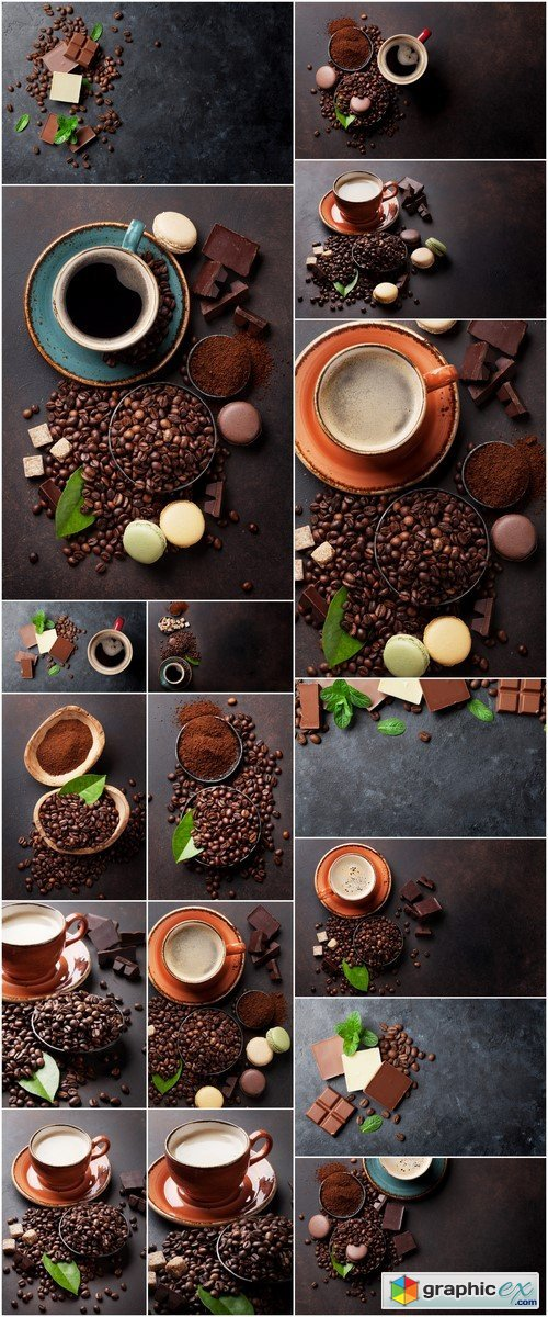 Coffee cup with chocolate 17X JPEG