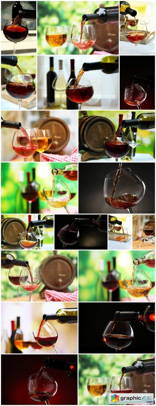 Red wine pouring into wine glass, close-up 20X JPEG