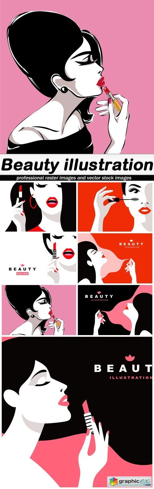 Beauty illustration - 7 EPS