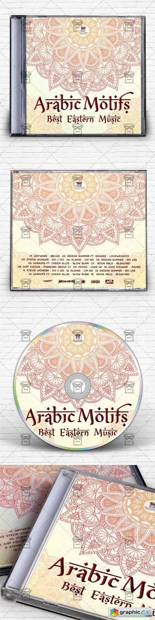 Arabic Motifs - Mixtape Album CD Cover Template