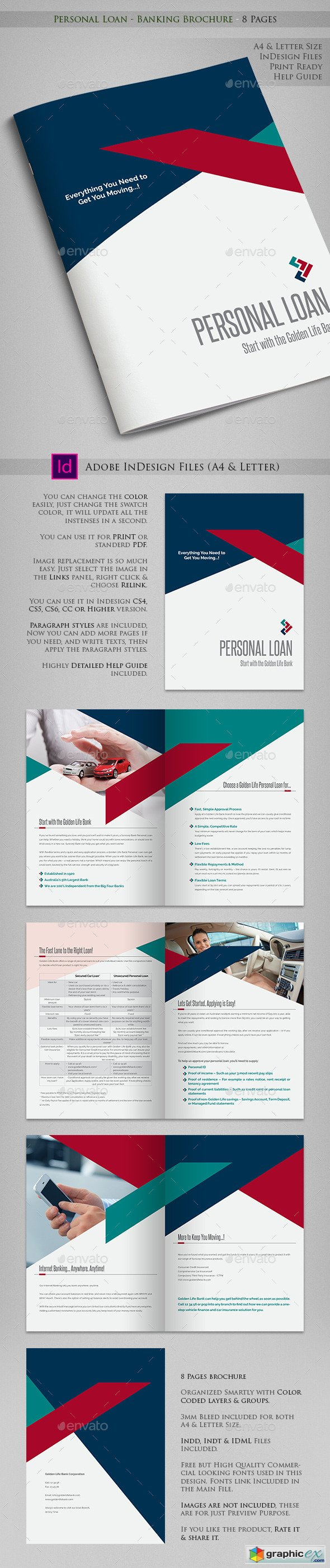 Personal Loan - Banking Brochure - 8 Pages
