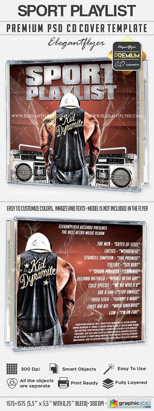 Sport Playlist � Premium CD Cover PSD Template