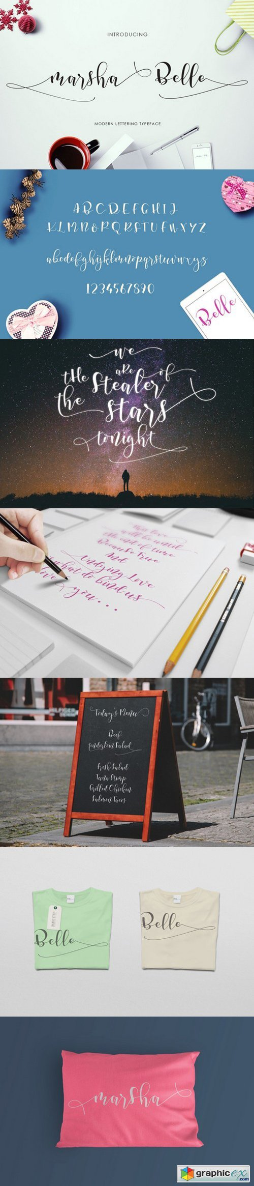 Marsha Belle Script Font » Free Download Vector Stock Image