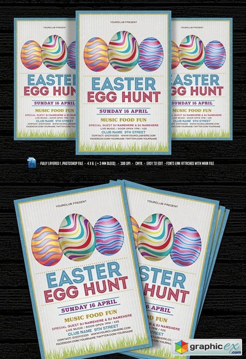 Easter Egg Hunt Flyer 1302090