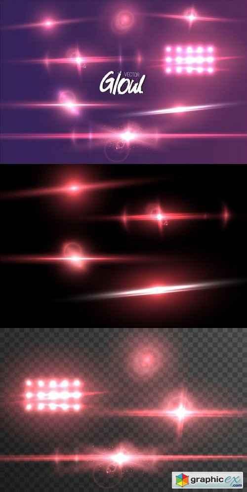 Vector Lens Flare Glow Effect