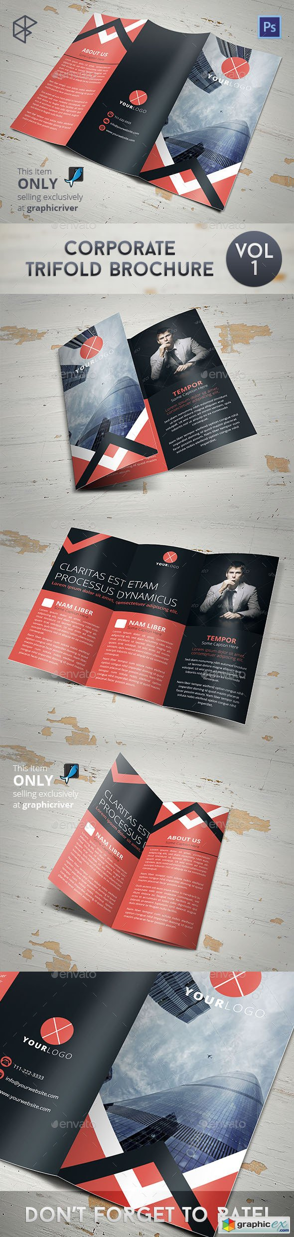 Corporate Trifold Brochure 7829117
