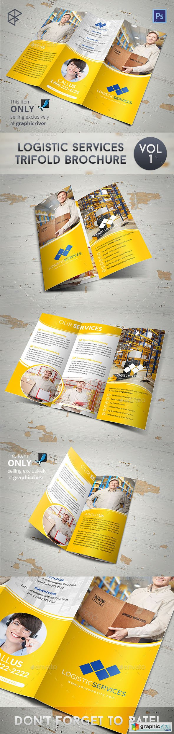 Logistic Services Tri-Fold Brochure