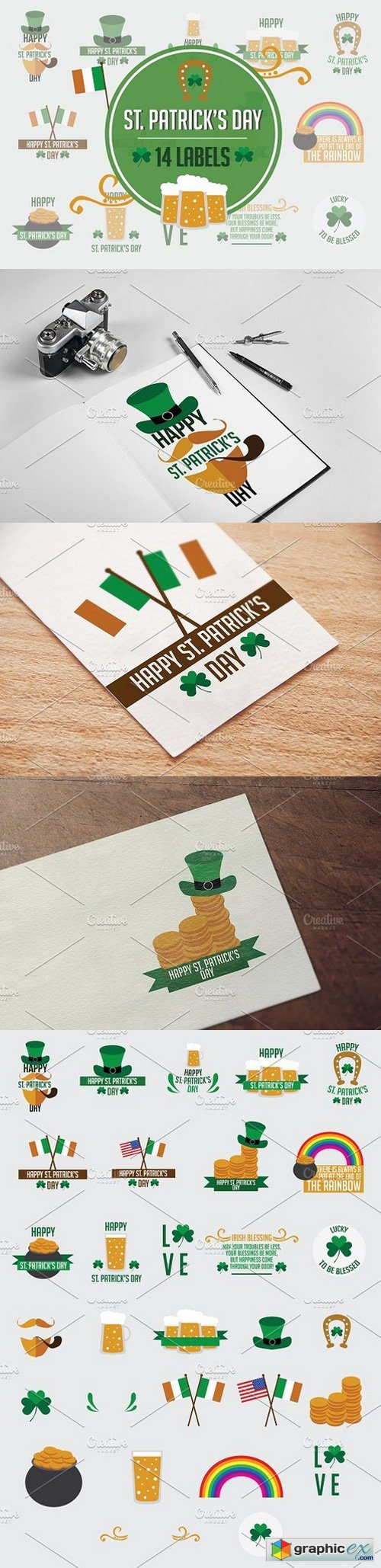 14 Labels: St. Patrick's Day