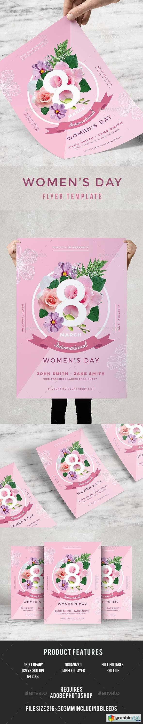 Graphicriver Womens Day Flyer