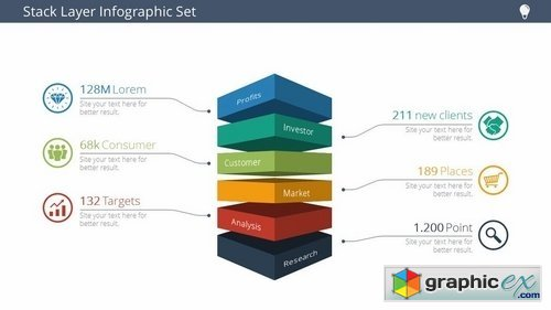 Stack Layer Infographic Set Vol 1