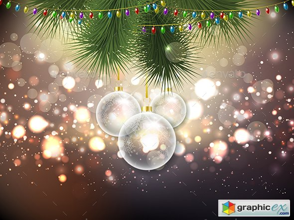 Christmas Bauble Background 13598771