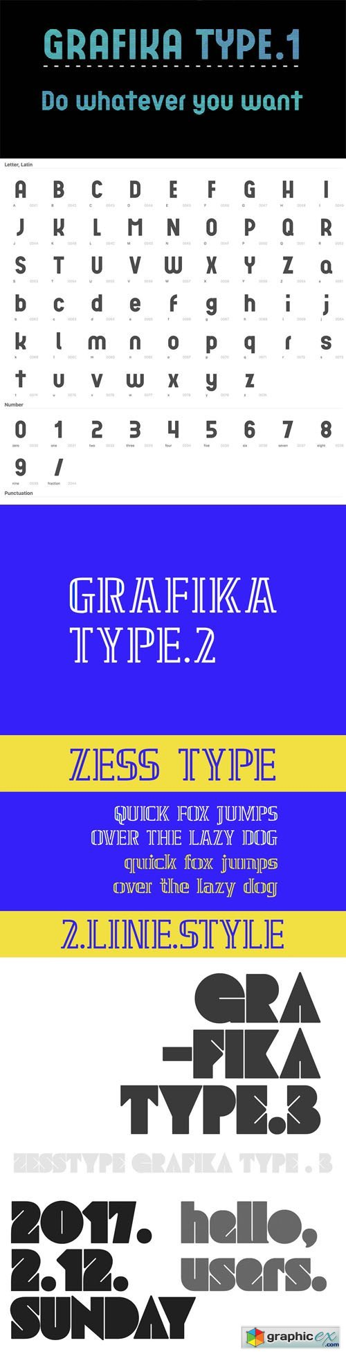 Grafika Sans Serif Fonts [Type 1,2,3]