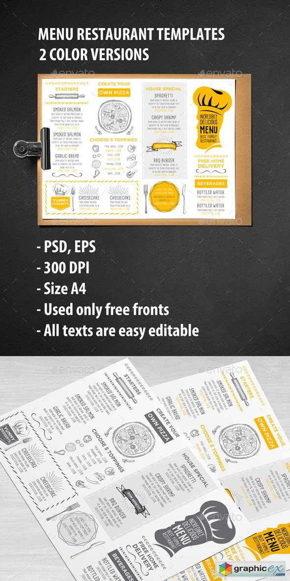 Menu Restaurant Template 11964429