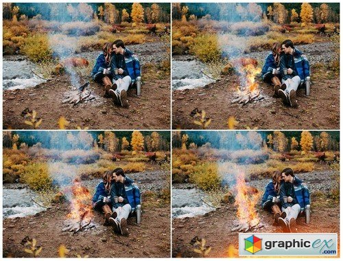 Fire and Sparks Photoshop Overlays