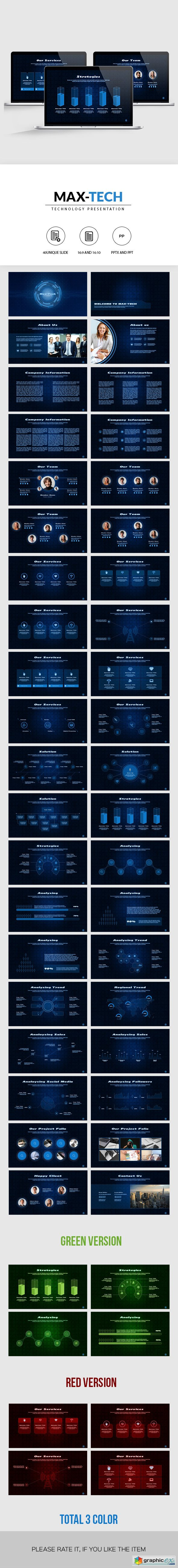 Graphicriver Max-Tech | Technology PowerPoint Presentation