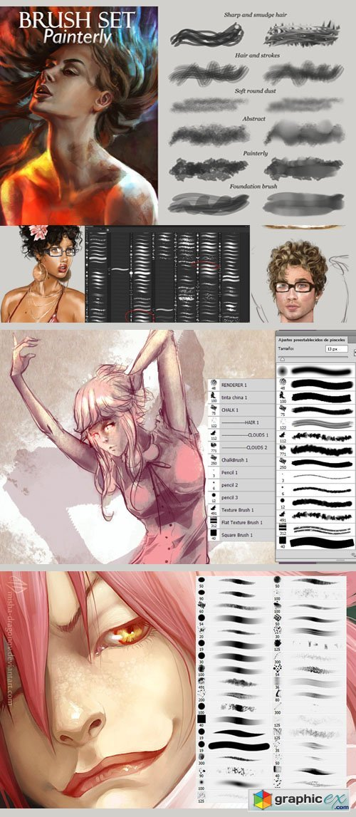 My Brushes Set - Painterly Photoshop Brushes